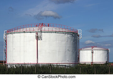 refinery oil tanks industry zone