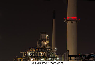Refinery plant at dusk