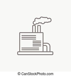 Refinery plant line icon. - Refinery plant line icon for...