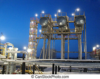 Refinery - Work of oil refinery center in West Siberia