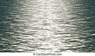 refléter, blanc, ocean., lumière