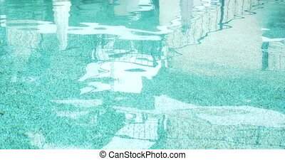 refléter, eau, piscine, natation
