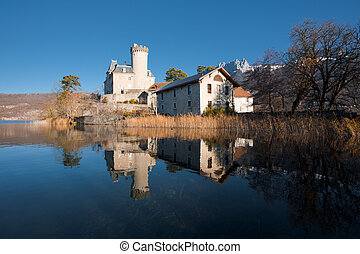 Reflected Castle France Horizontal