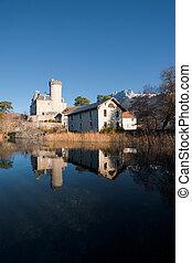 Reflected Castle France Vertical
