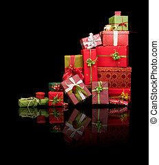 Reflected christmas presents