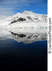 reflected ice in antarctica