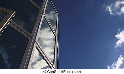 Reflected in skyscraper