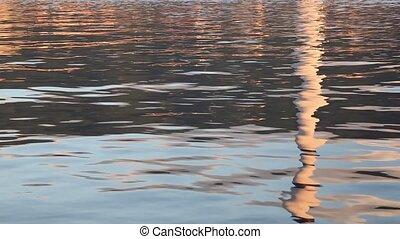 reflected smoke stack