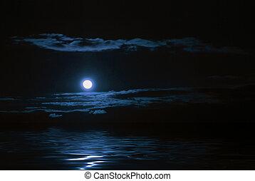 reflectie, maan