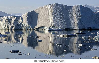Reflecting iceberg