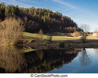 Reflection and beatiful nature