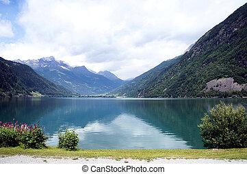 Reflection at Lake Poschiavo