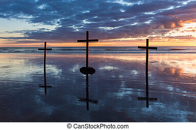 Reflection Beach Crosses