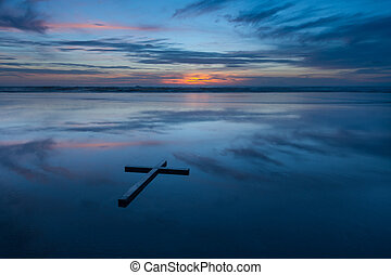 Reflection Cross Beach