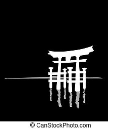 reflection - pagoda