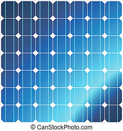 Reflection in solar panels - Vector illustration of a ...