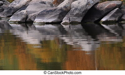 Reflection in water. - Reflection in water of the autumn...