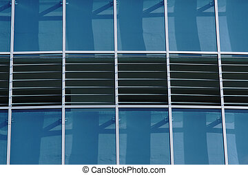 Reflection in windows of modern office building - part of modern architecture