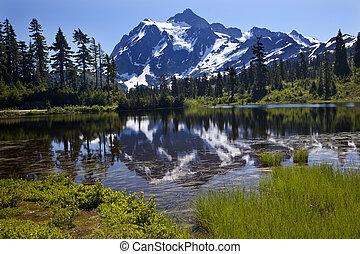 Reflection Lake Mount Shuksan Washington State