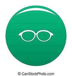 Reflection lens icon green