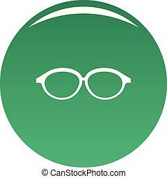 Reflection lens icon vector green