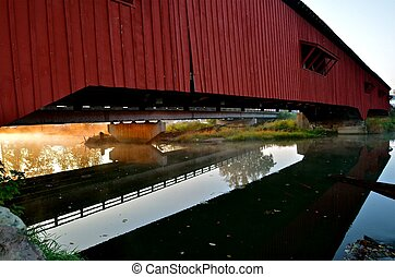 Reflection of a Covered Bridge
