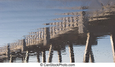 Reflection of a Fishing Pier