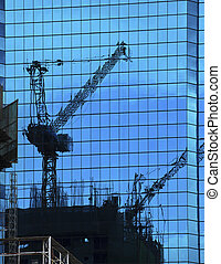reflection of building constructio