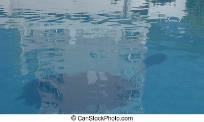 Reflection of building on water