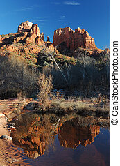 Reflection of Cathedral Rock