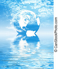 Reflection of Earth in water
