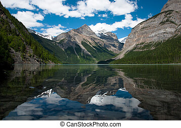 Reflection of Mount Robson in Kinney Lake