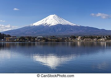 Mt Fuji - Reflection of Mt Fuji at lake Kawaguchiko