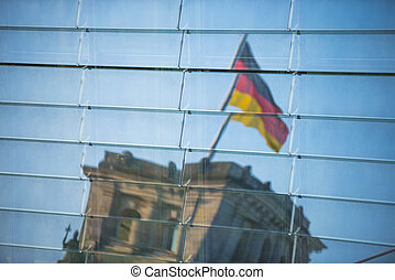reflection of the Berlin Reichstag
