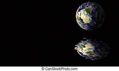 reflection of the earth