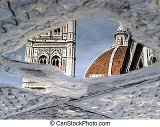 Reflection of the Florence cathedra