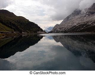 reflection of the mountain lake 2