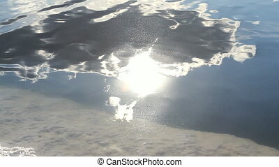 Reflection of the sunny sky