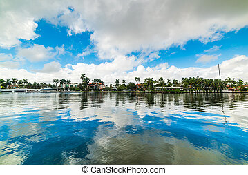 Reflection on a canal in Fort Lauderdale