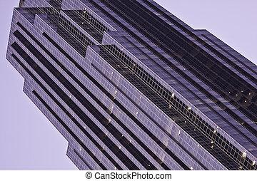 houston skyscrape - reflection on houston skyscraper at...
