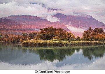 reflection on lake