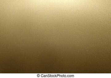 Reflection on rough dark yellow metallic wall surfaces, abstract texture background