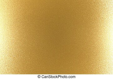 Reflection on rough gold metallic wall surfaces, abstract texture background