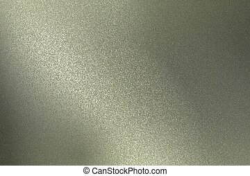 Reflection on rough gray metallic wall surfaces, abstract texture background