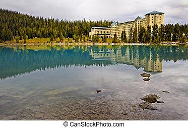 Reflection over Lake Louise, Banff National Park, Alberta, Canada