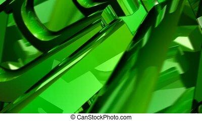 reflection, shine,green