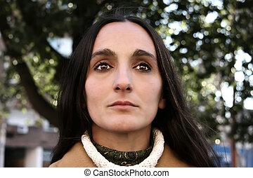 Reflections - Dark Portrait of a woman.