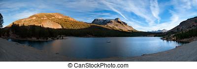 Reflections in a lake near Yosemite National Park