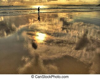 Reflections in the sand