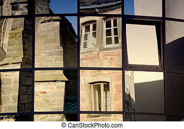 reflections in the windows